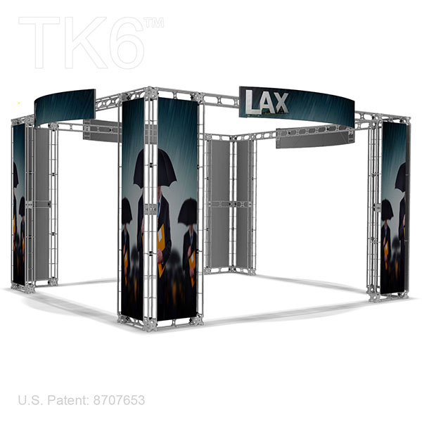 Exhibition Booth Frame : Angeles ft aluminum box truss trade show display