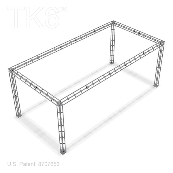 BALTIMORE-10FT X 20FT BOX TRUSS DISPLAY BOOTH TRUSS<BR>[FRAME ONLY]